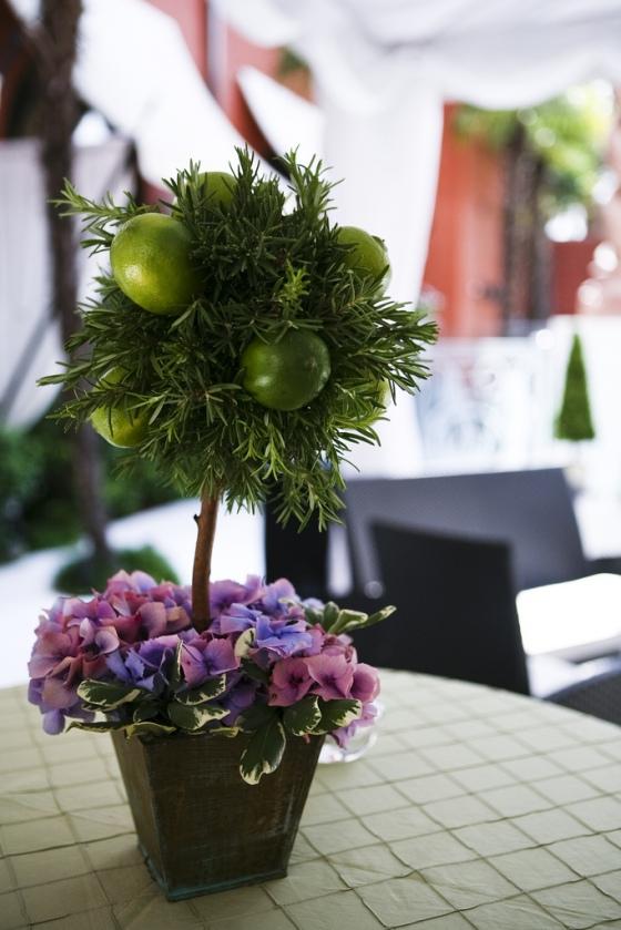 Rosemary, Limes, Purple Hydrangea