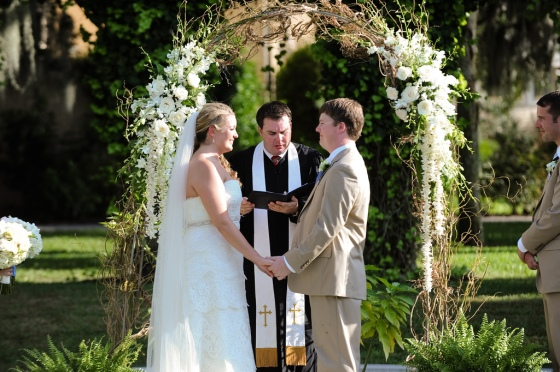 Willow Arch, White Dendrobium Orchids, White Cymbidium Orchids