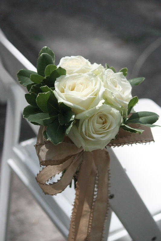 Lovely White Standard Rose Pew Marker The Monochromatic Look Was