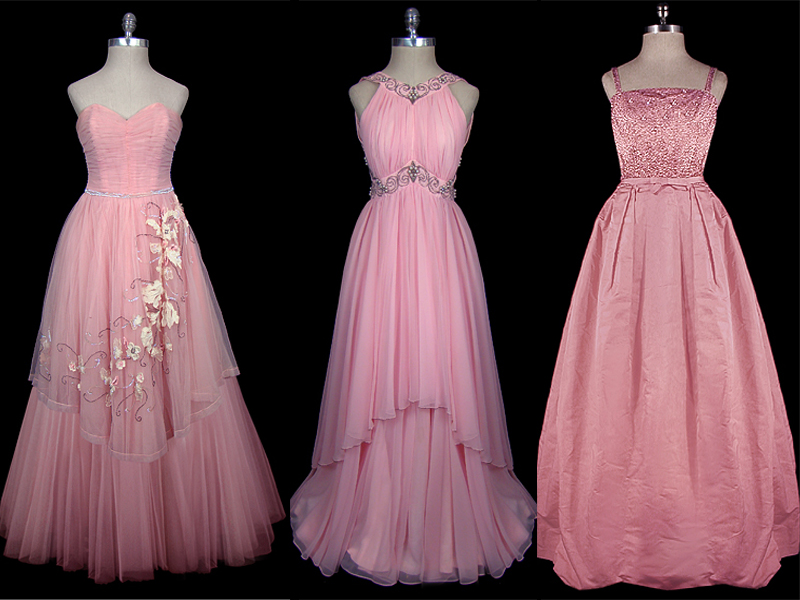 Vintage Wedding Dresses Pink : Wednesdays with amy vintage couture bridal gowns floral and event