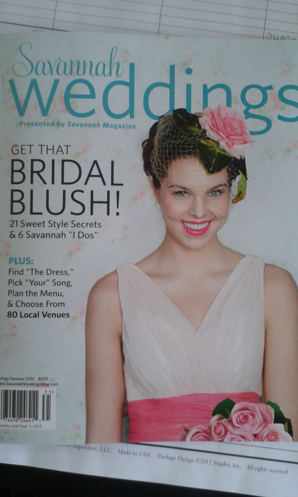 Check Us Out in Savannah Weddings Magazine!